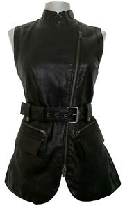 RACHEL-ZOE-BLACK-LEATHER-BELTED-VEST-4-XS-995
