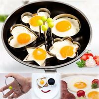 Kitchen Tools Stainless Steel Fried Egg Pancake Cutter Cooking Mold With Handle