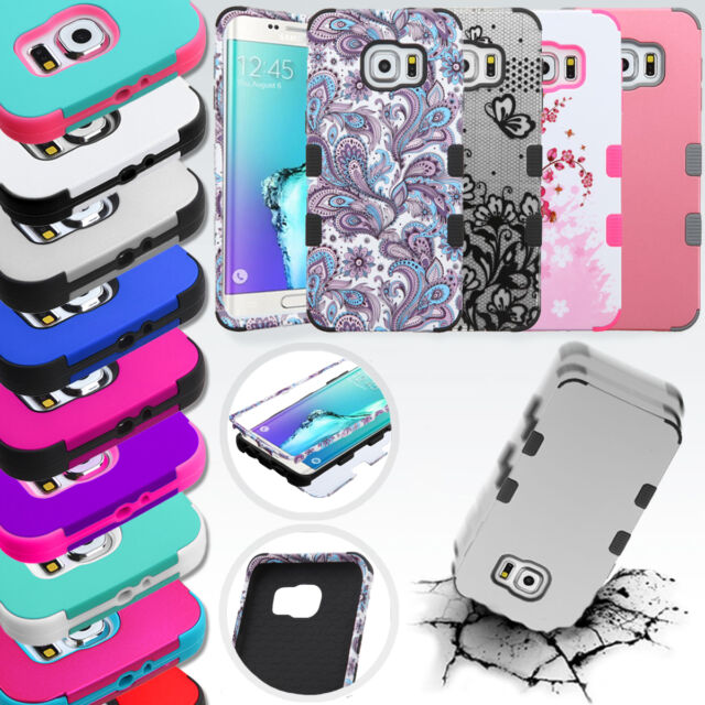 For Samsung Galaxy S6 TUFF Hybrid Rubber Hard Protective Case Cover