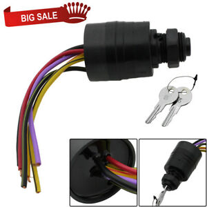 replacement outboard ignition key switch 6 wire for. Black Bedroom Furniture Sets. Home Design Ideas