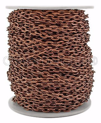 150 Feet Cable Chain Spool Bulk Rolo Shiny Silver Color 4x6mm Link