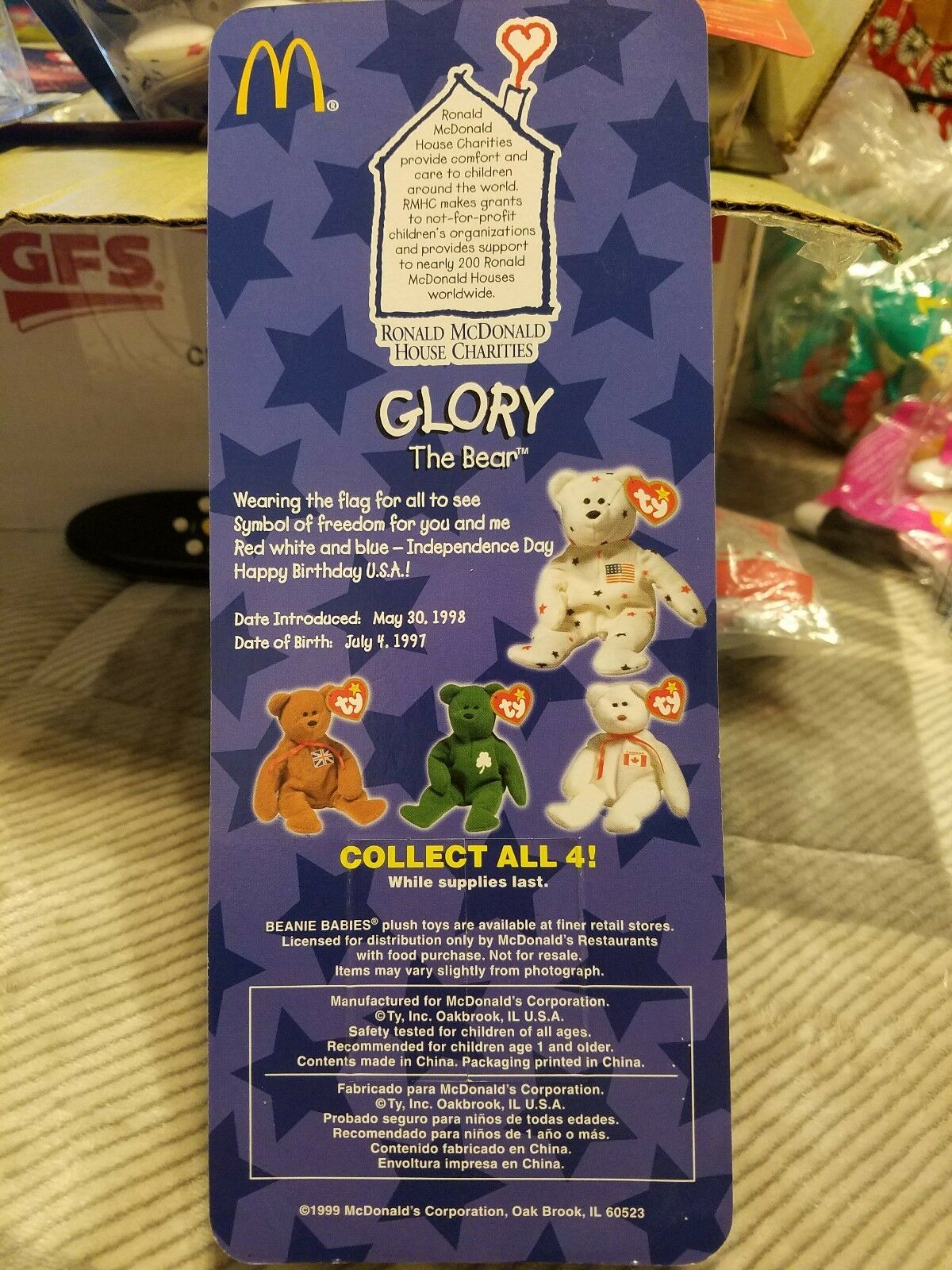 Ty beanie babies babies babies Glory Beanie Bear Very RARE DATE DISCREPENCY       76f631