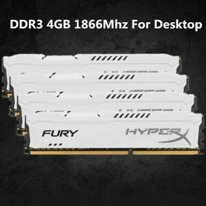 Pour-Kingston-HyperX-4-Go-8-Go-16-Go-DDR3-1866-MHz-PC3-14900-RAM-de-bureau-blanc