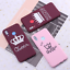 thumbnail 9 - King and Queen Crown case cover for Xiaomi Mi Redmi Note 5 6 7 8 9 lite Pro Plus