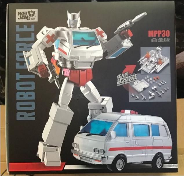 Neue version der krankenwagen mpp-30 g1 transformers - legierung version von spielzeug