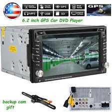 "6.2""  Double 2 Din Car DVD GPS Player No 3G Radio Stereo Sat Nav Bluetooth US"