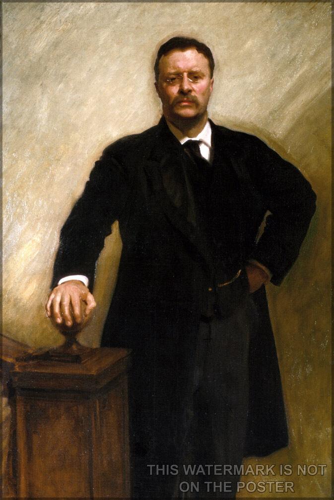 Plakat, Viele Größen; President Theodore Roosevelt Offiziell Weiß Haus Bild