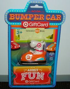 Target Gift Card No Cash Value Bullseye Orange Bumper Car Toy