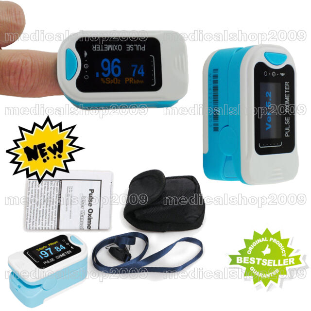CE FDA fingertip pulse oximeter, blood oxygen, oximeter, Spo2 Monitor + Case