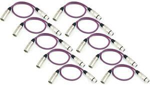 10 X 0,5 M Mikrofonkabel Lila Xlr Neutrik Kompatibel Dmx Mikro Kabel Adam Hall üBerlegene Leistung Kabel, Leitungen & Stecker Veranstaltungs- & Dj-equipment