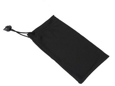 10 x BLACK CLOTH SUNGLASSES CASES Protective Soft Drawstring Pouch Case NEW