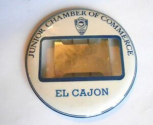 Vintage El Cajon California Junior Chamber of Commerce Pinback Name Badge