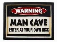 Ram R174 Warning Man Cave Pub Sign 3d Art Free Shipping