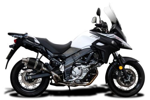 "Delkevic Suzuki DL650 V-Strom DS70 9/"" Carbon Oval Muffler Slip On Exhaust"