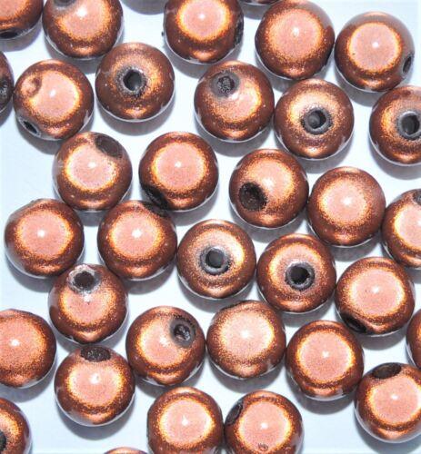 6 Redondo 10 8 Abalorios acrílicos milagro las opciones para el tamaño 4 12 mm * marrón