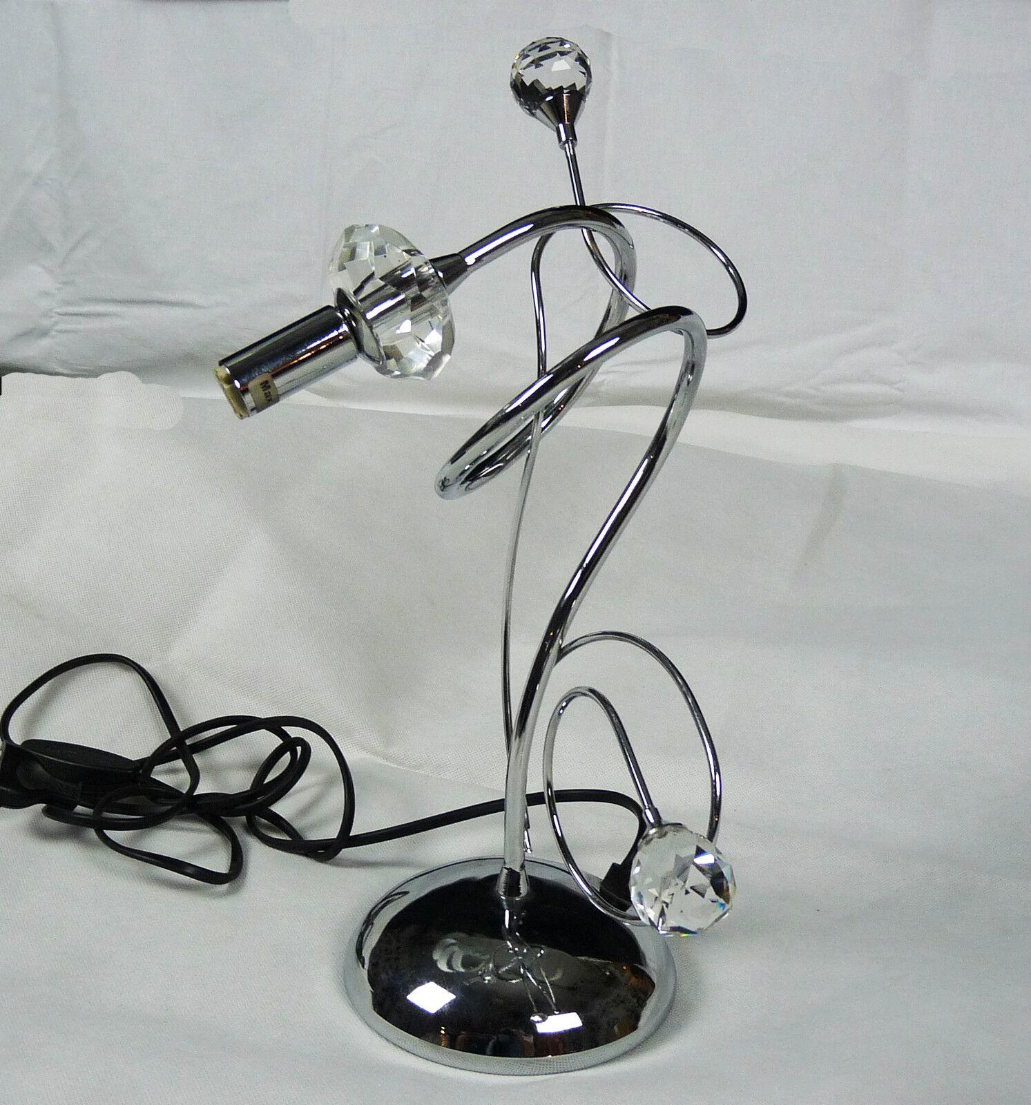 LUME LED MODERNO CONTEMPORANEO CROMO CRISTALLO ART.L59 MADE IN ITALY TABLE LAMP