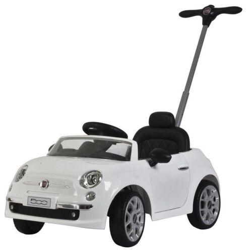 AUTO MACCHINA A SPINTA MANUALE PER BAMBINI FIAT 500 PUSH CAR BIANCA NOVITA