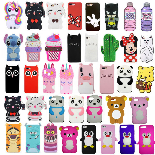 HOT 3D Cute Animals Cartoon Soft Silicone Phone Case Cover For ...