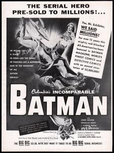 BATMAN-Serial-Original-1954-Trade-print-AD-theatre-promo-COLUMBIA-Robin