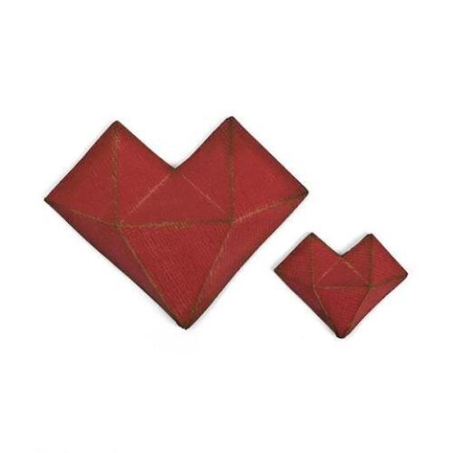 Sizzix Thinlits Die Set by Tim Holtz 2pcs Faceted Heart 664156