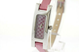 c6eb41e37 Details about Ladies Gucci 3900 Series YA039539 Purple Dial Purplish Pink  Satin Strap Watch