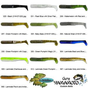 "10 Per Bag Gary Yamamoto Swimming Senko 5/"" Green Pumpkin//Green Purple Flake"