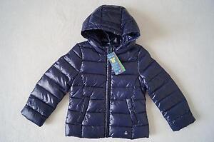 Benetton Neu Mit Gr Details Winterjacke Kapuze Blau 116122 Zu 110 Daunenjacke 98104 0X8wknOP