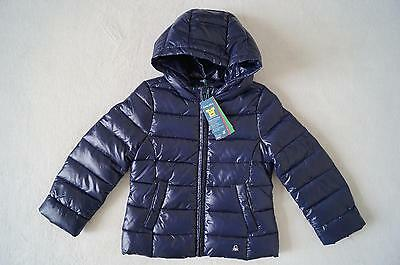 BENETTON Winterjacke Daunenjacke mit Kapuze Gr.98104,110,116122 blau NEU | eBay