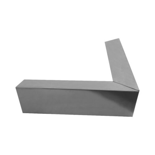 90° Grad Eck-Element aus Aluminium für Dachrandprofil Zuschnitt 333 mm