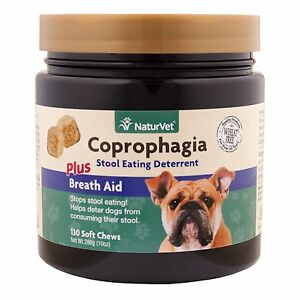details about naturvet coprophagia breath aid stop eating poop for