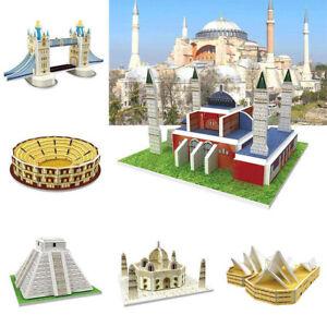 Children-Kids-3D-Puzzle-Wold-Famous-Buildings-Model-DIY-Educational-Toy-1-Pcs