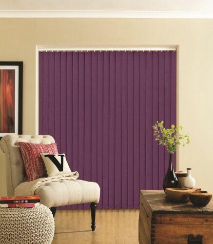 Best Price Complete Splash Velvet Purple Made to Measure Vertical Blind