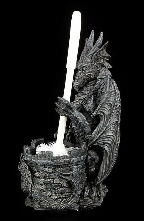 Dragones Escobillero - Cepillo Wc Wc Wc Fantasy Gothic Figura InodGold Baño 25472f