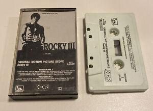 Vintage Rocky III Cassette Tape Original Motion Picture Soundtrack 1982 Balboa