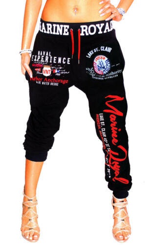 Zahida Pantaloni Donna Jogging Sport Fitness Tinta Unita Mimetico Palestra