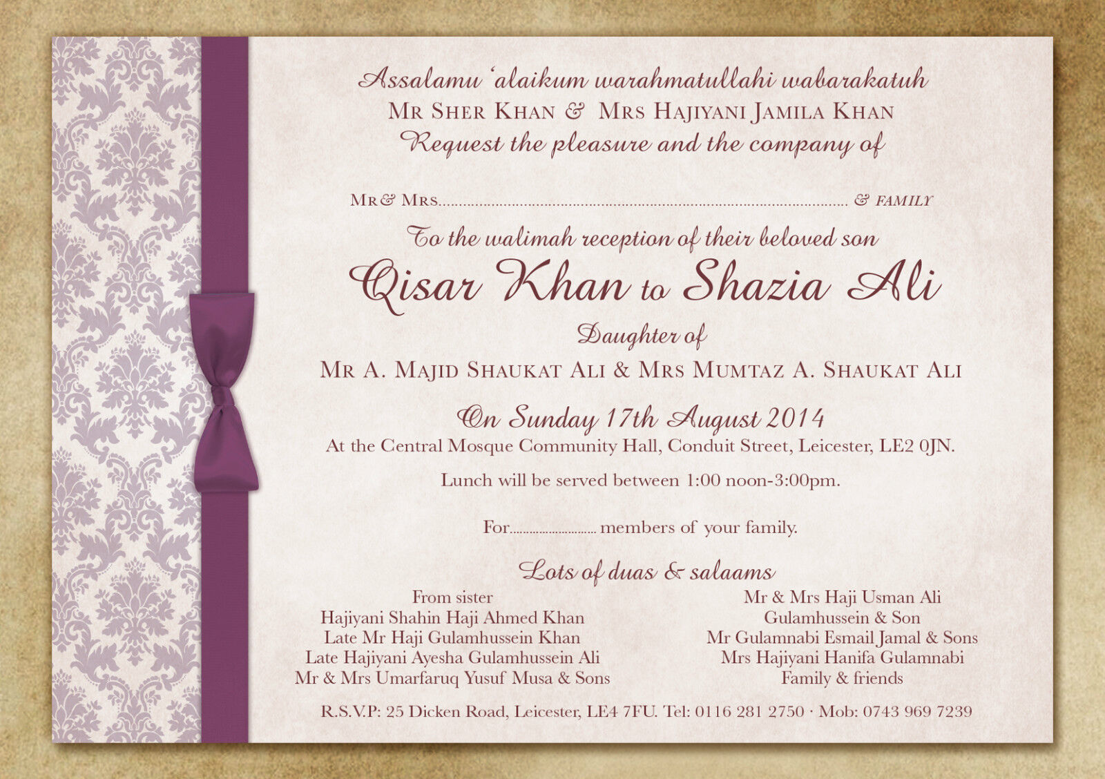 A5 PERSONALISED WEDDING DAY & EVENING INVITATIONS WITH ENVELOPES & P&P