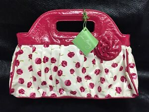 Vera-Bradley-Purse-Handbag-Got-It-Handled-Make-Me-Blush-Pink-Flowers-Purse