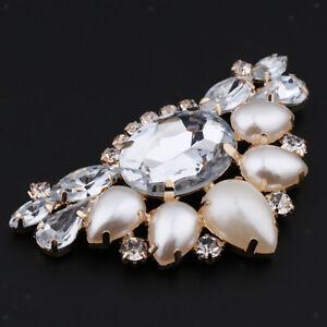 Rhinestone-Shoe-Clips-Crystal-Women-Wedding-Shoe-Buckle-Charms-Decor-Champagne