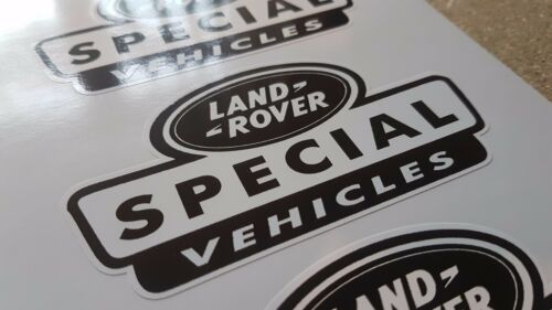 3 X Old Black Land Rover Special Vehicle Stickers Defender Discovery 90 110 TD5