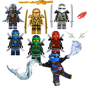 ZANE COLE KAI 7 x LEGO NINJAGO minifigure: JAY LLOYD in Polybag NYA WU