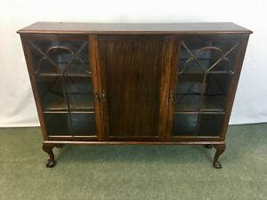 Antique-slim-mahogany-3-door-display-cupboard-cabinet-1792L