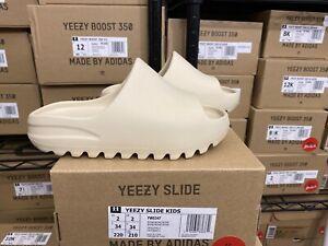 Adidas Yeezy Slides Bone Size 2Y FW6347