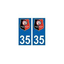 35 Stade Rennais foot autocollant plaque arrondis