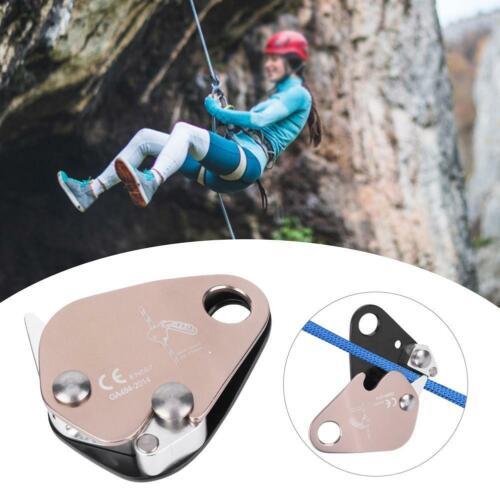 100KN Climbing Tree Caving Self-braking Stop Descender Belay Device Singe Rope