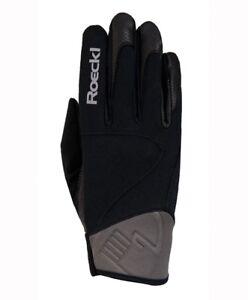 9da82993e813c5 Image is loading Roeckl-Vienna-Black-Grey-Winter-Riding-Gloves