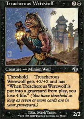 4x Treacherous Werewolf MTG Judgment NM Magic Regular