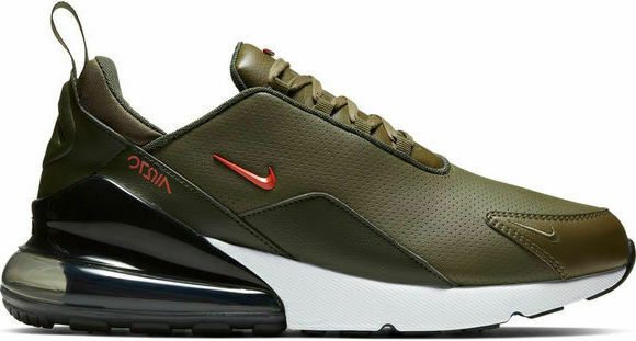 4bbc39d2d8 Mens Nike Air Max 270 Premium Leather Olive Olive Olive Athletic Fashion  Sneakers BQ6171 200 de09b1