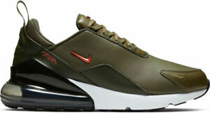 Details about Mens Nike Air Max 270 Premium Leather Olive Athletic Fashion Sneakers BQ6171 200