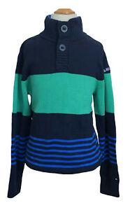 Tommy-Hilfiger-Big-Boy-039-s-Half-2-Button-Mock-Turtle-Neck-Sweater-0-Free-Ship