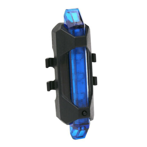 5 LED USB RECHARGEABLE BRIGHT BIKE TAIL LIGHT BYCICLE SAFETY REAR WARNING LAMP